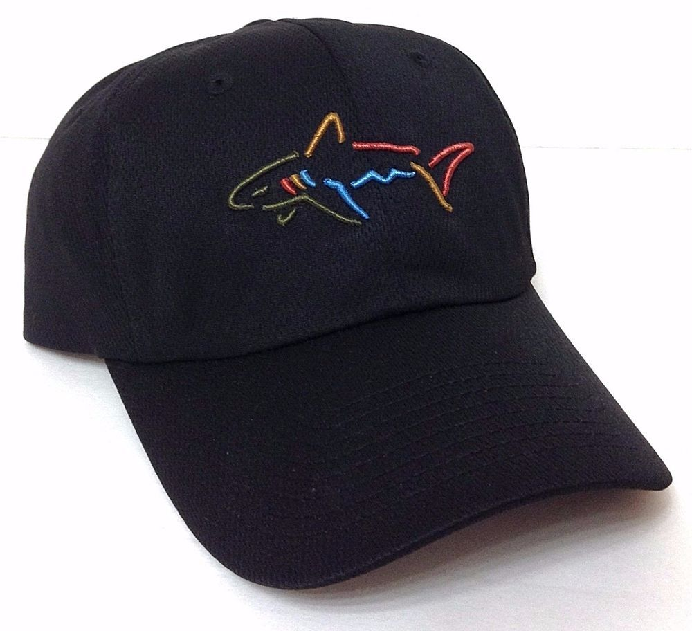 New Greg Norman Shark Hat Dry Fit Polyester Golf Hat Black Relaxed Fit Men Women Gregnorman Baseballcap Shark Hat Cool Hats Tee Shirt Designs