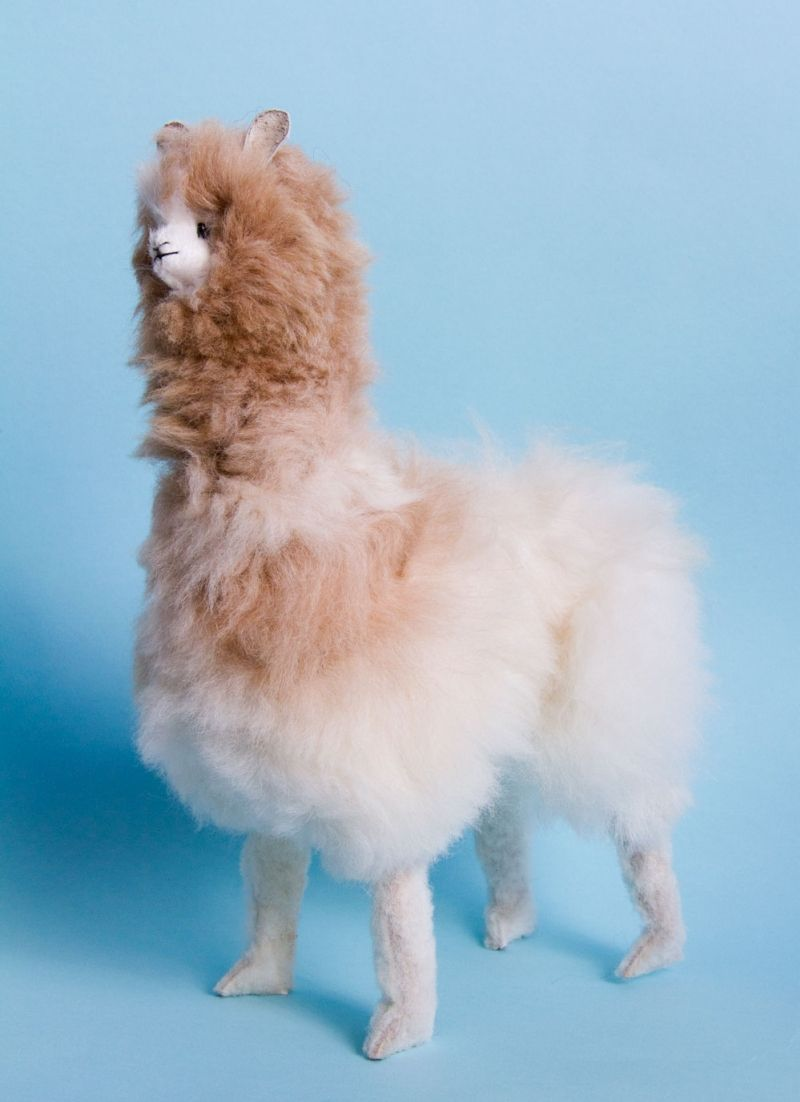 12 Tall Hand Made Alpaca Stuffed Animal From Peru Made From Real