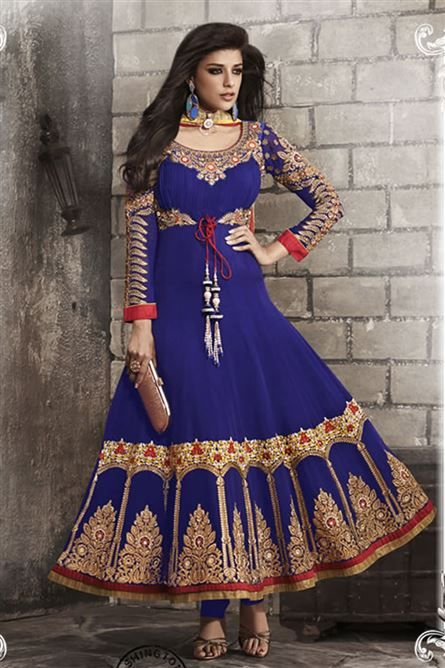 1000  images about Party Wear Long Anarkali Suits on Pinterest
