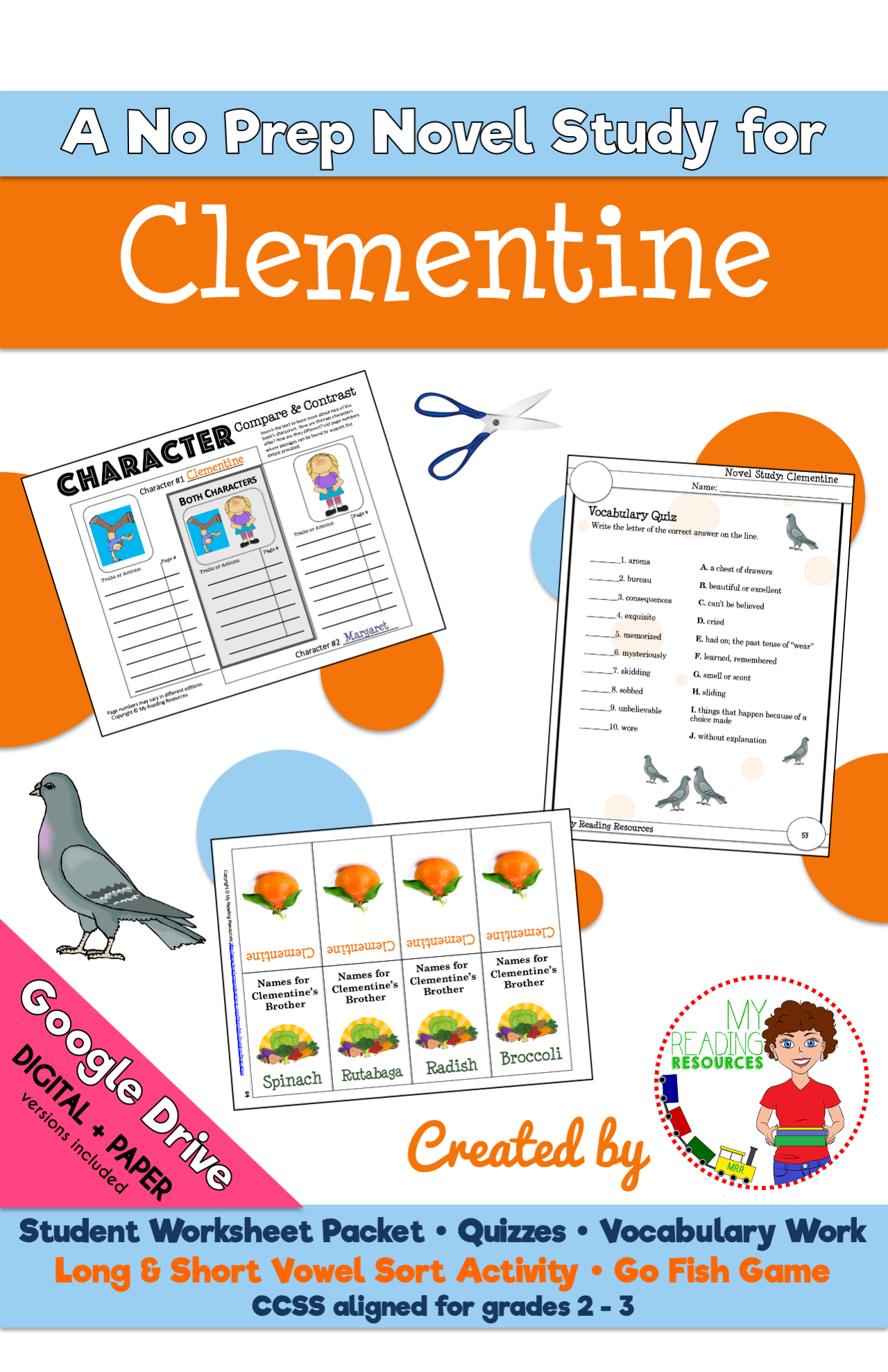 Clementine Novel Study Print Digital In