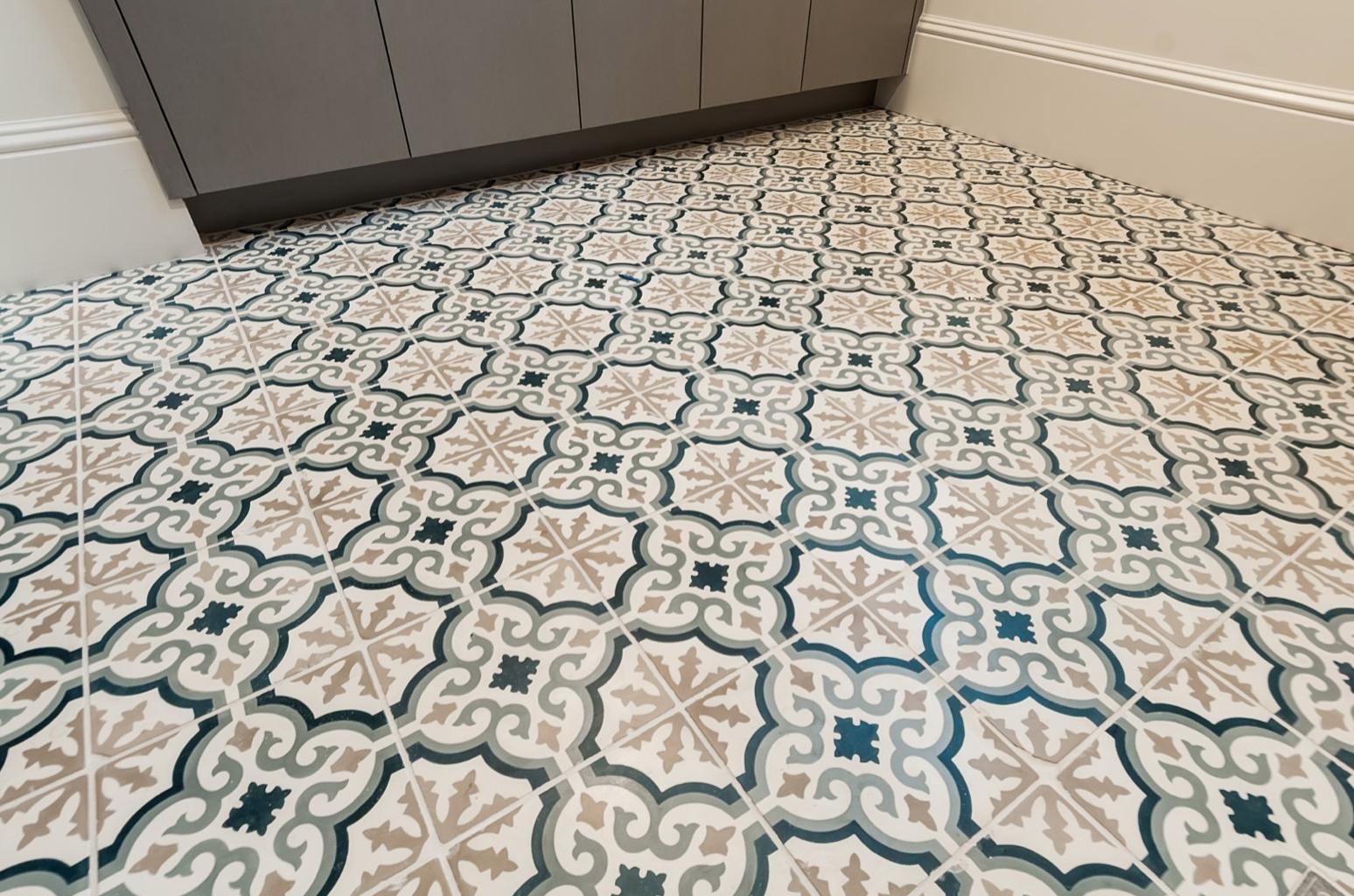 ceramic mosaic tile flooring in modern