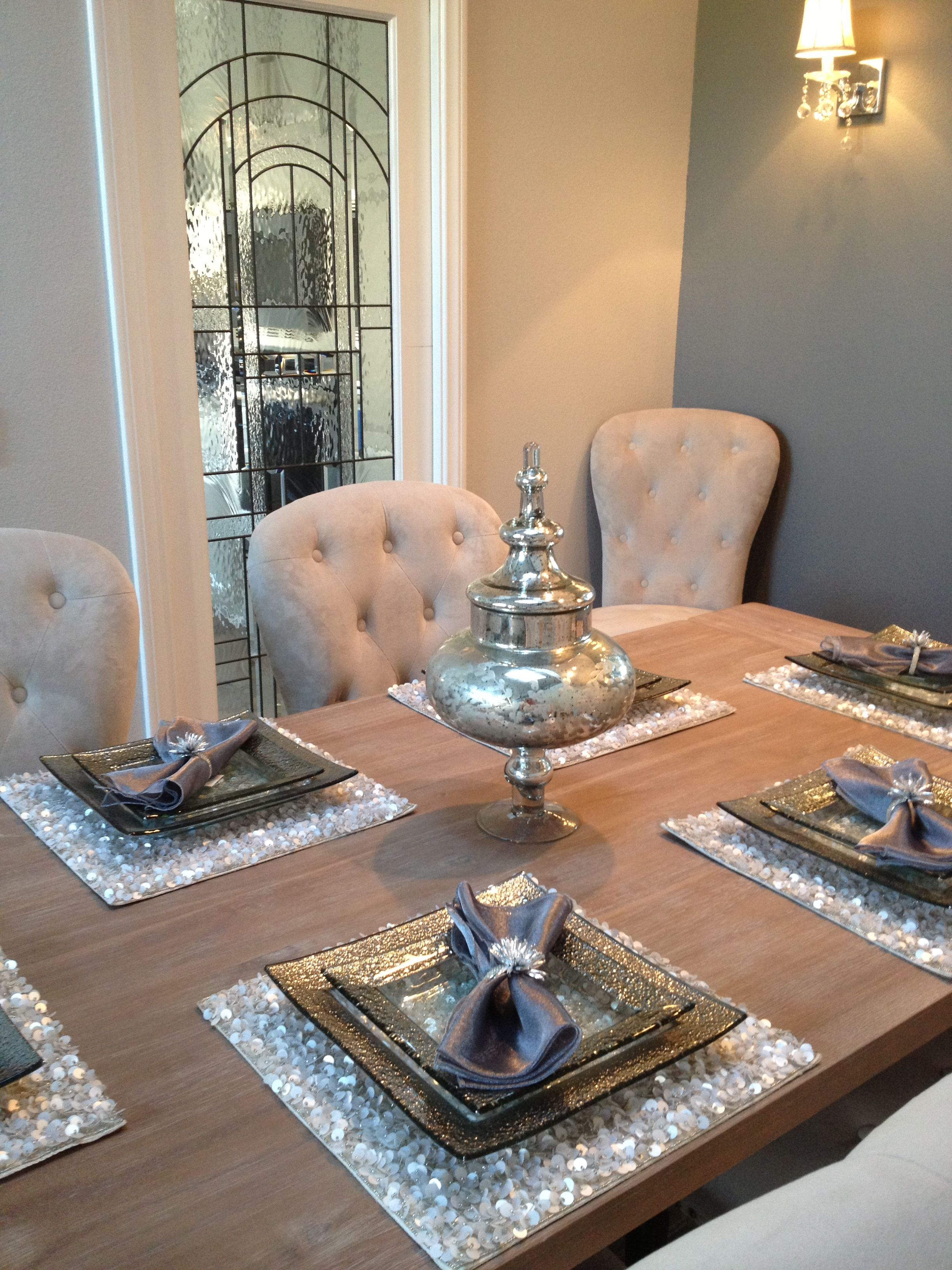 Decorating Ideas Dining Table My Dining Room Love The Placemats Future Home Dining Room Design