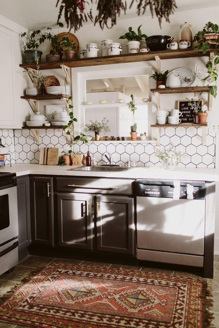 Fresh Boho Kitchen Remodel Avant + Après - Décoration  Idée déco