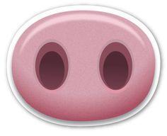 Pig Nose A Href Http Emojistickers Com Rel Nofollow Target Blank Emojistickers Com A Pig Nose Peppa Pig Peppa Pig Birthday