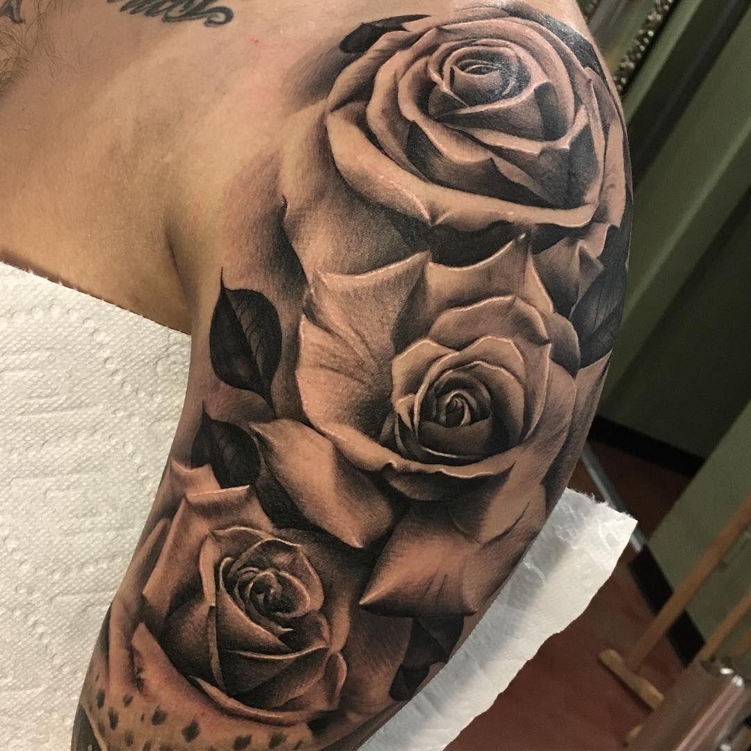 Rose Sleeve Tattoos: Clifford Chen (@cliffink_art