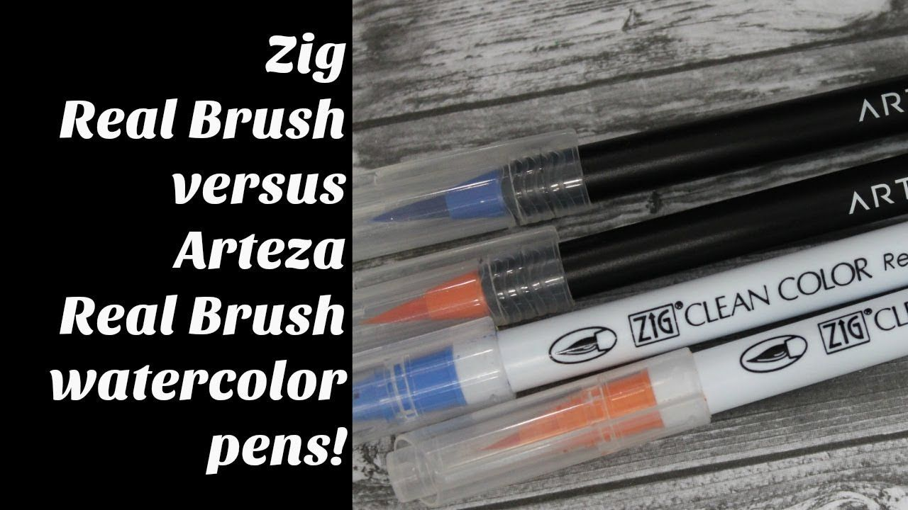Comparison Zig Real Brush V Arteza Real Brush Pens Watercolor