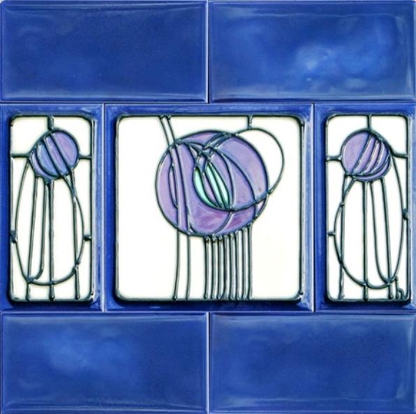 Charles rennie mackintosh ceramic tile boden und - Jugendstil wandgestaltung ...