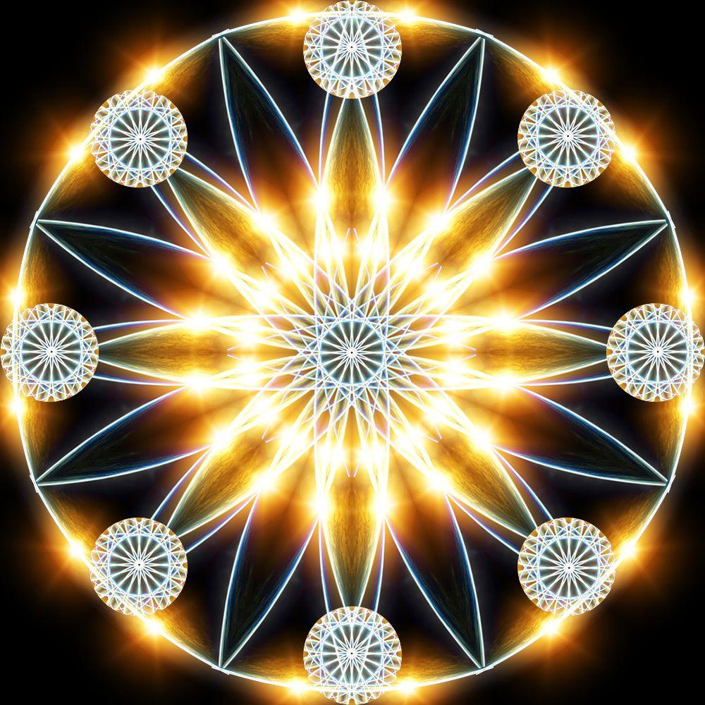 online retailer later new concept Gold Star Mandala   Cosmic Mandalas in 2019   Mandala, Art ...