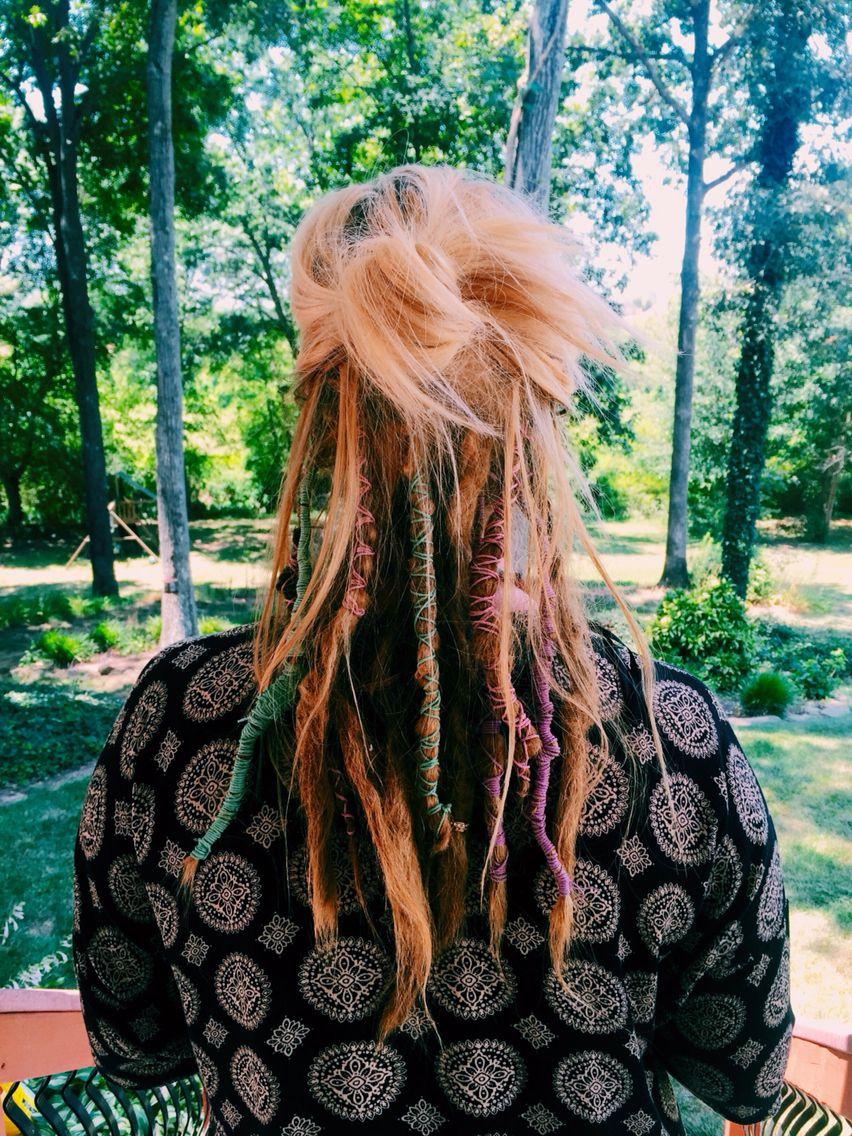 dreads -half dreaded hair for girls. | dreads, dreadlocks