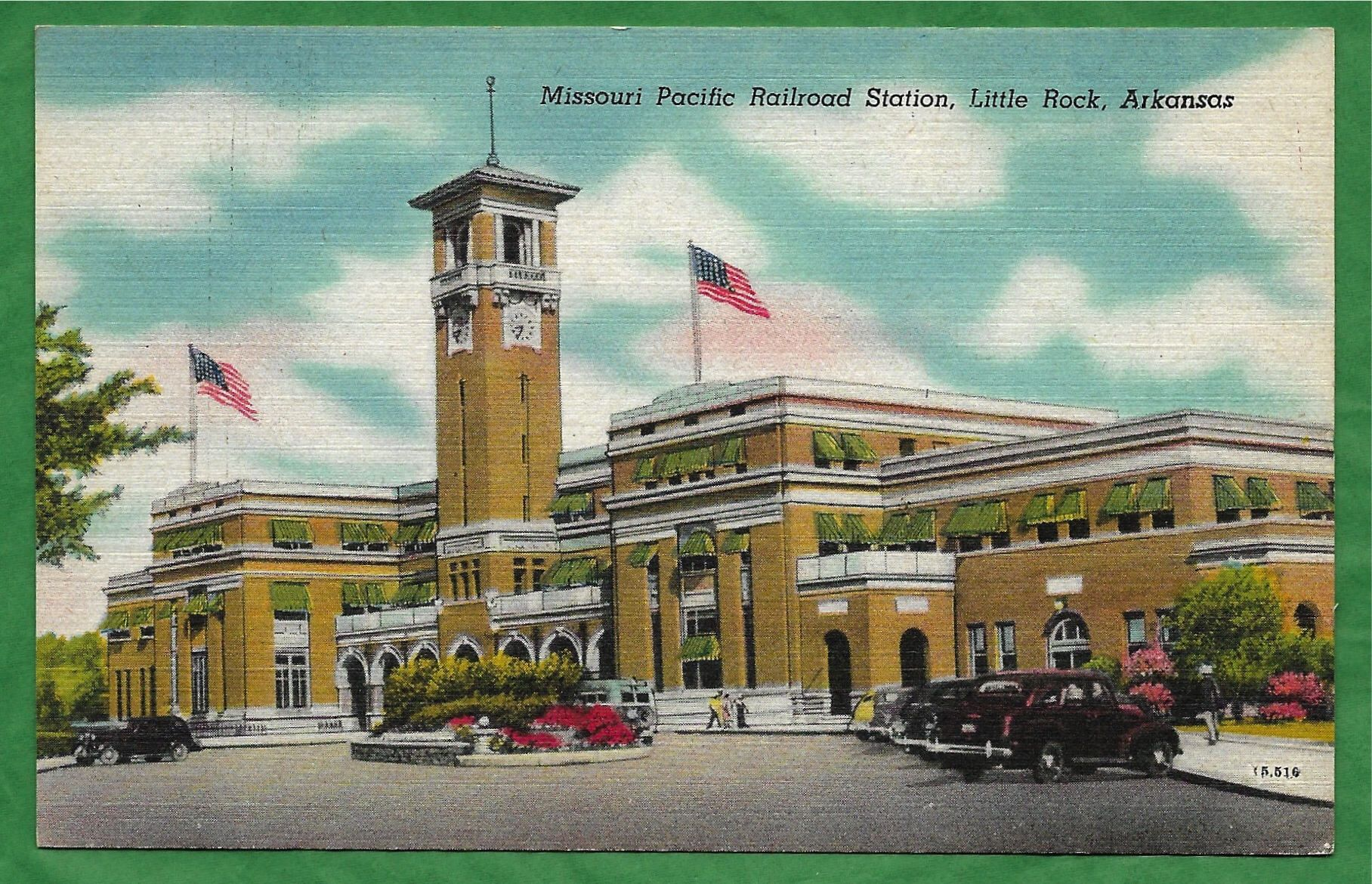 Vintage Linen Postcard - Missouri Pacific RR Station Also Known as Mopac Station in Little Rock, Arkansas  (3133) by TheToadsHouse on Etsy https://www.etsy.com/listing/575475985/vintage-linen-postcard-missouri-pacific