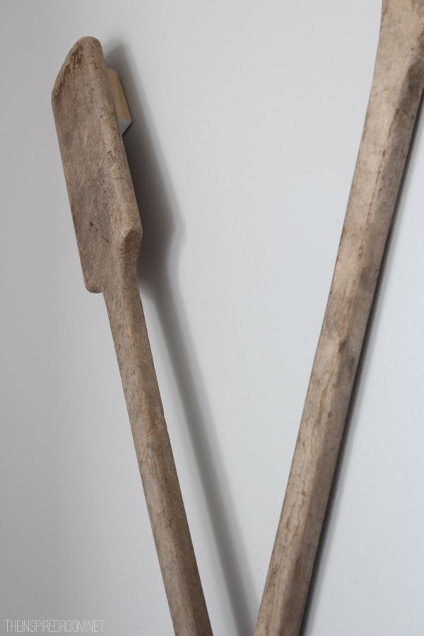 How To Hang Oars Or Paddles In An X Shape Decorating