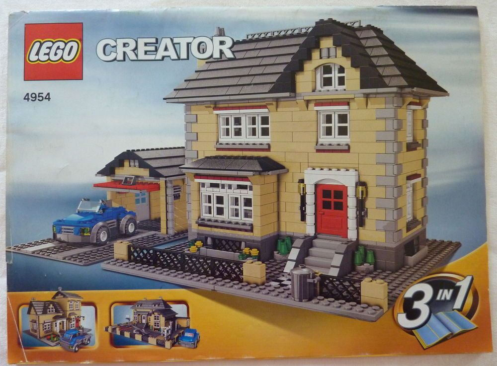 Lego Creator 4954 Model Town House With Instructions Legos