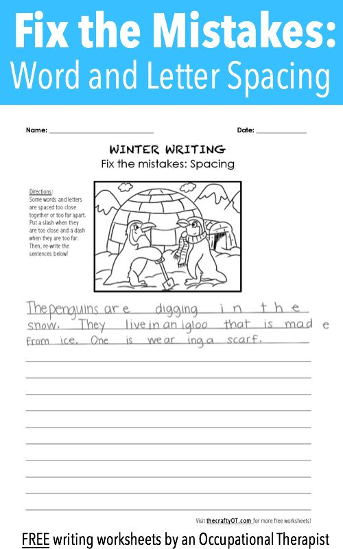 winter writing fix the mistakes pediatric ot writing worksheets handwriting analysis. Black Bedroom Furniture Sets. Home Design Ideas