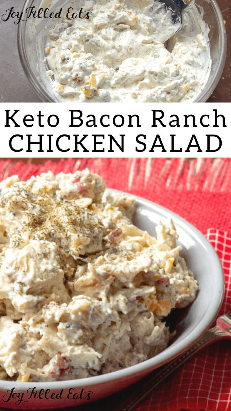 My Bacon Ranch Keto Chicken Salad Is Packed With Flavor It Is Rich Amp Creamy With Cheddar Bacon