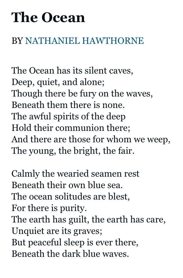 The Ocean by Nathaniel Hawthorne | Nathaniel hawthorne ...