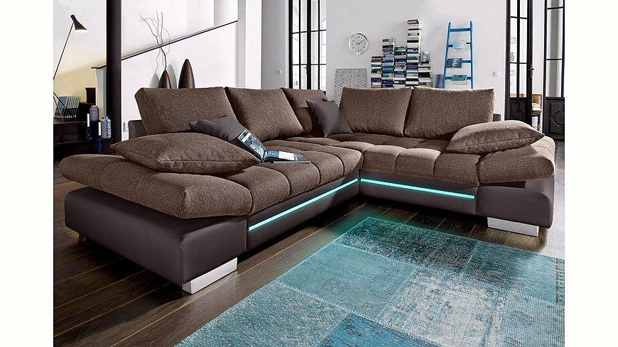 Polsterecke, wahlweise mit RGB-LED-Beleuchtung, Energieeffizienz A - beleuchtung für wohnzimmer