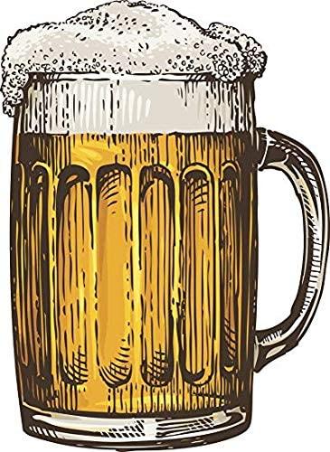 Amazon Com Ew Designs Retro Vintage Foaming Cold Beer Mug Cartoon 1 Vinyl Decal Bumper Sticker 4 Tall Automotive Beer Painting Beer Drawing Beer Art