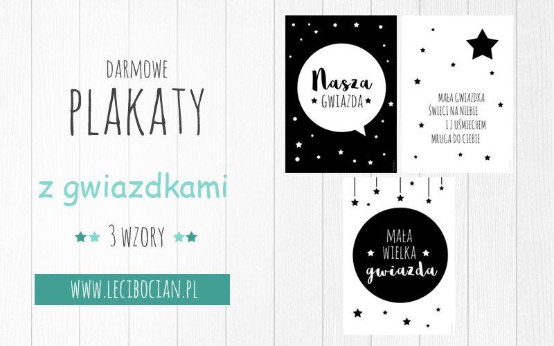 Plakaty Z Gwiazdkami Do Druku 3 Czarno Białe Darmowe