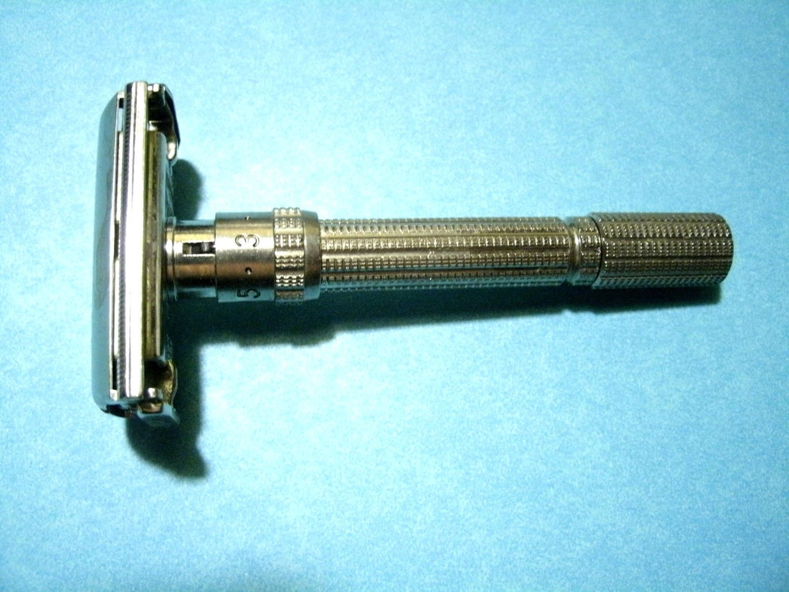 Vintage Gillette Slim Adjustable Safety Razor H3 Code 1962