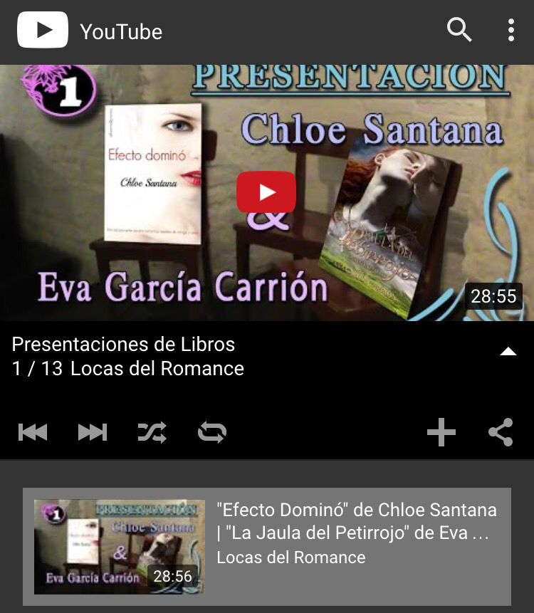 Presentación de La jaula del petirrojo 15/01/2016 Sevilla en YouTube (por Naitora & husband)