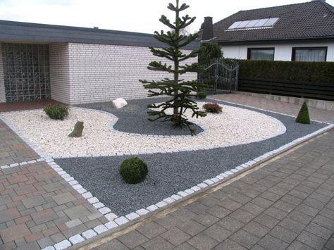 Fantastisch Vorgartengestaltung Mit Splitt Und Granit