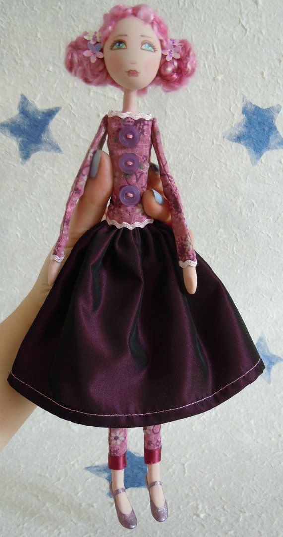OOAK Art Doll in Polymer clay and Fabric by cerchiofatato