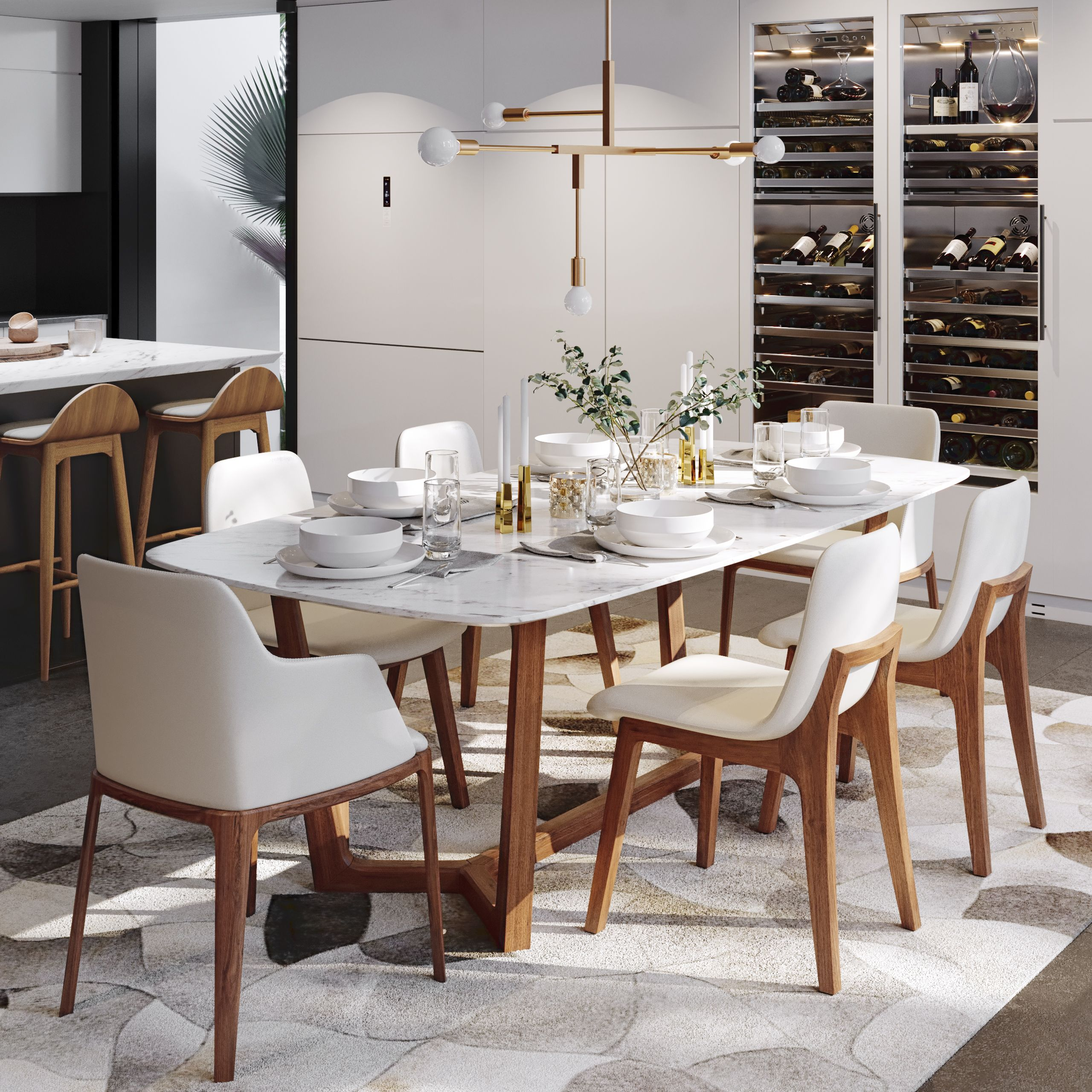 Evelyn Dining Table In 2021 Dining Table Marble Modern Dining Table Square Dining Tables