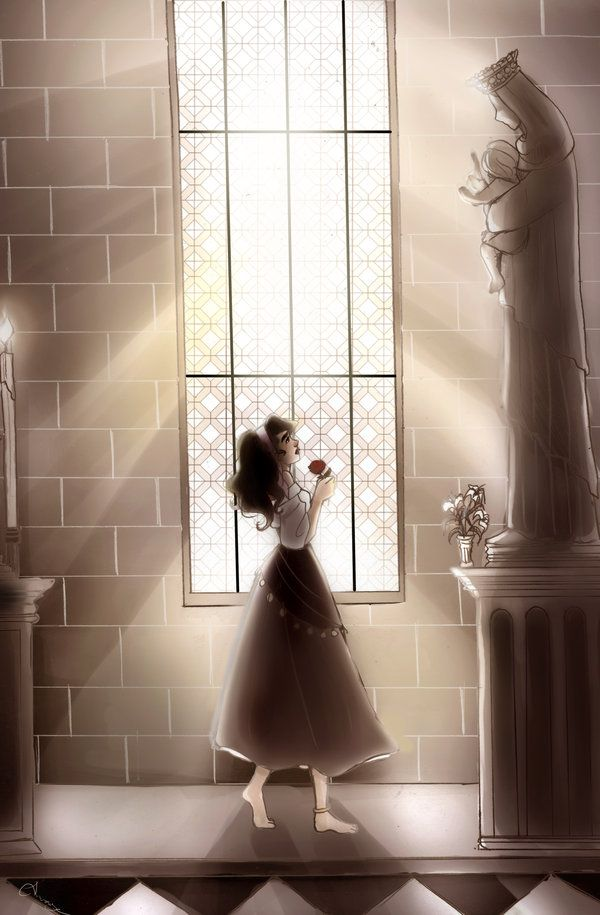 "One Day, Someday Soon by seanchaithe.deviantart.com on @deviantART - Esmeralda from ""The Hunchback of Notre Dame"""