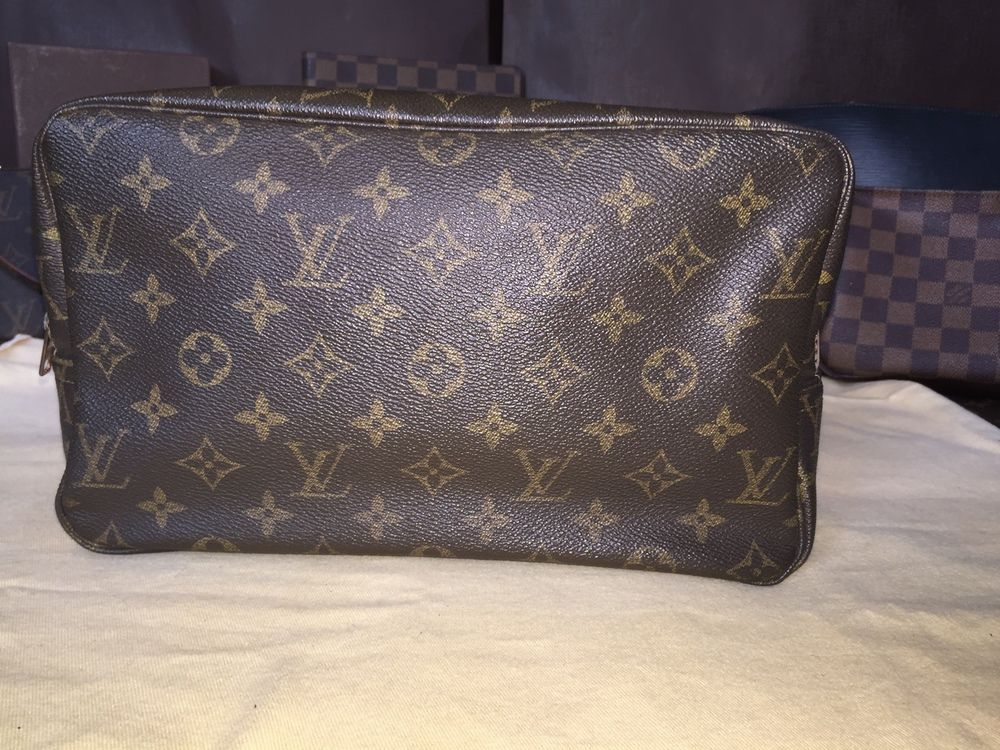 c77db43c1a12 Authentic Vintage LV Mono Trousse Toilette Cosmetic Pouch Bag 28 - The Luxe  Boutique