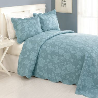 Janet Full Bedspread In Blue Bedbathandbeyond Com