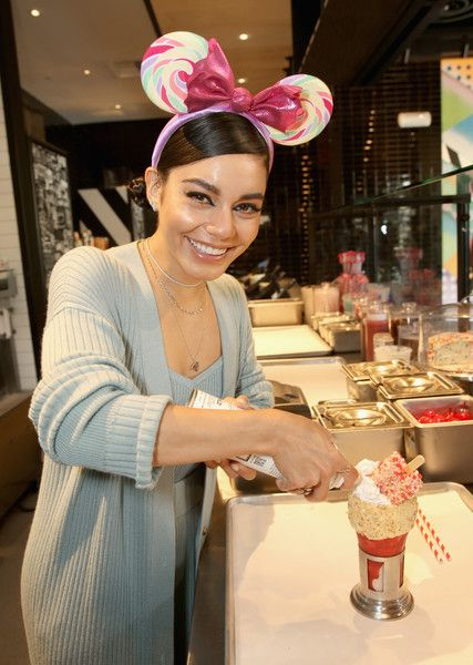 Vanessa Hudgens Photos Photos: Vanessa Hudgens Celebrates Opening Of Black Tap Craft Burgers & Shakes At Disneyland Resort