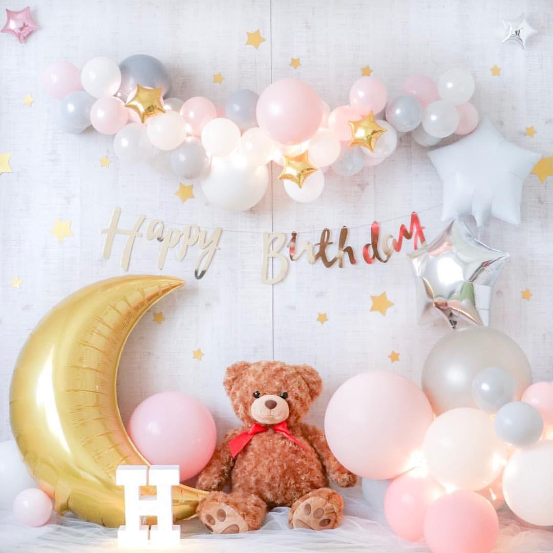 2018 6 Instagood Instaballoon Balloongarland Teddybear Starandmoon Fairytail Partydecor Photobooth テディベア Gin バースデーパーティーのデコレーション 誕生日 風船 ハーフバースデー 飾り付け