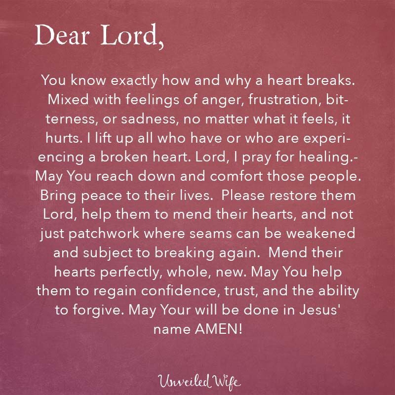 Prayer Of The Day - Healing A Broken Heart | Godly wife, Feelings ...