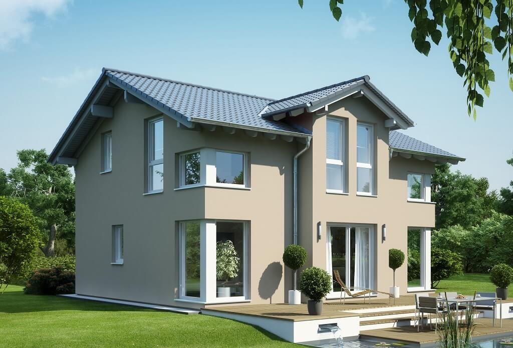 Modernes Stadthaus Mit Satteldach Haus Evolution 125 V4