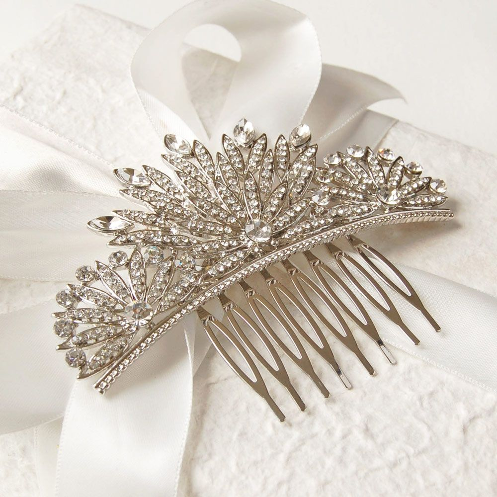 Hair Accessories Online Uk - Vintage style gatsby hair comb 16 00 hair accessories buy engraved silver jewellery