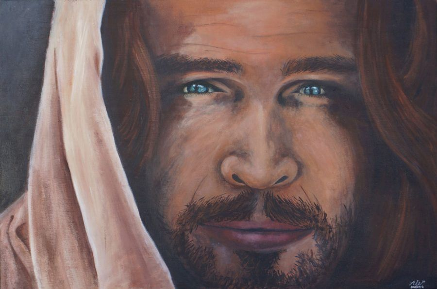 Worshipping Heavenly Father Through Paint In 2020 Jesus Painting