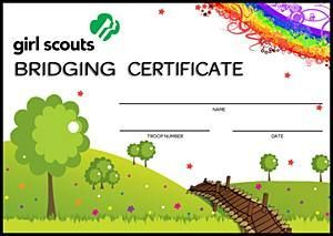 Free printable girl scout certificates bridging certificate free printable girl scout certificates bridging certificate girl scouts online store yadclub Images