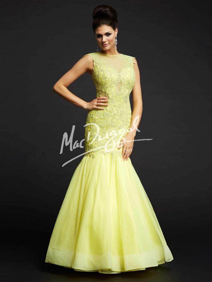 1c96d0febc3 Lemon Yellow Prom Dress