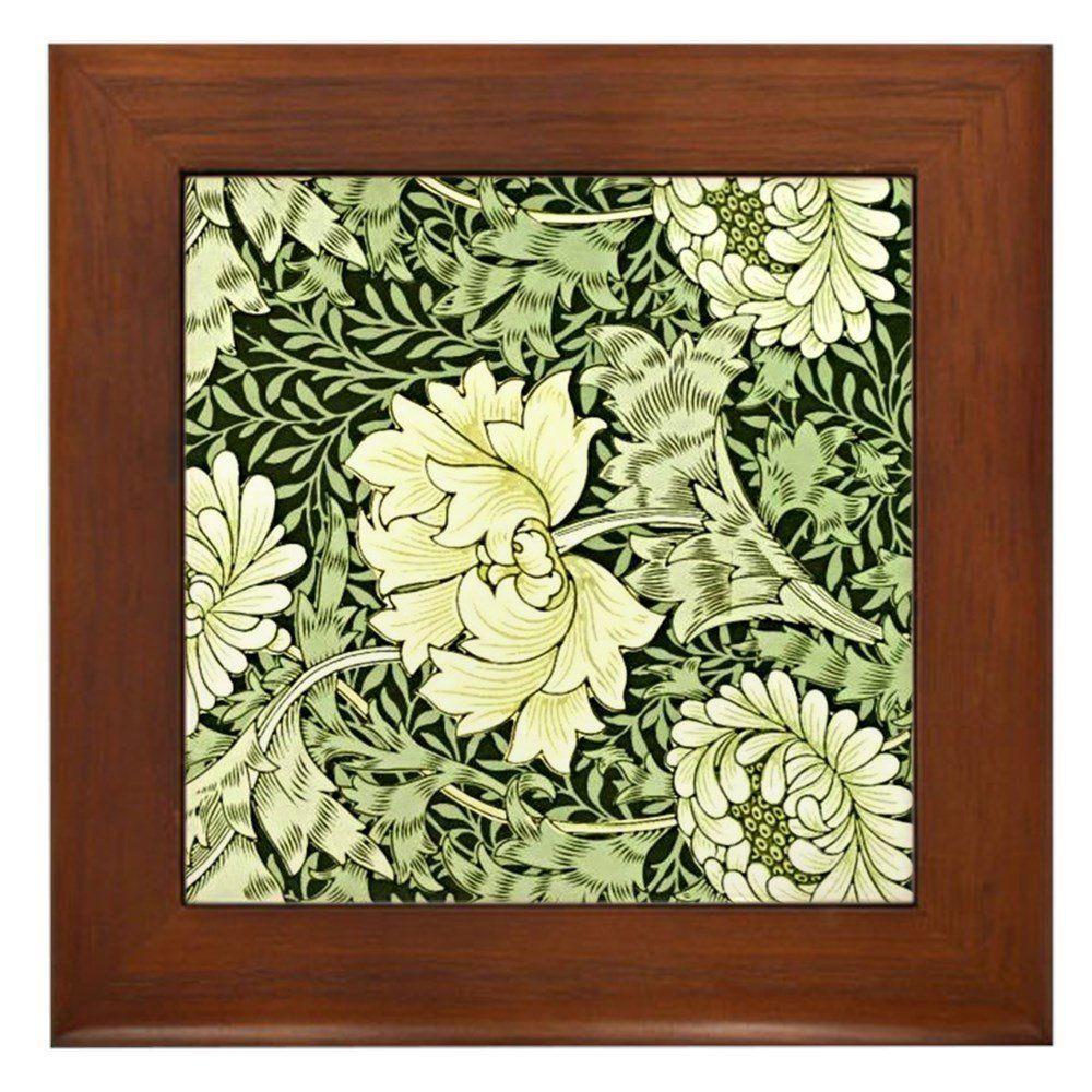Amazon.com: CafePress - Morris - Chrysanthemum - Framed Tile ...