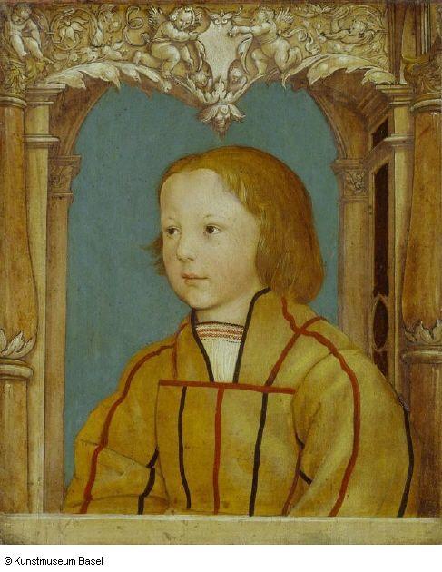 Ambrosius Holbein, Bildnis eines Knaben mit blondem Haar (ca. 1516, Kunstmuseum Basel)