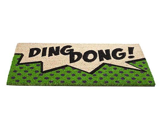 Kokos-Fussmatte Pop Art Ding Dong, 44 x 74 cm Wishlist