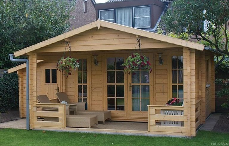 093 Small Log Cabin Homes Ideas Garden cabins, Summer