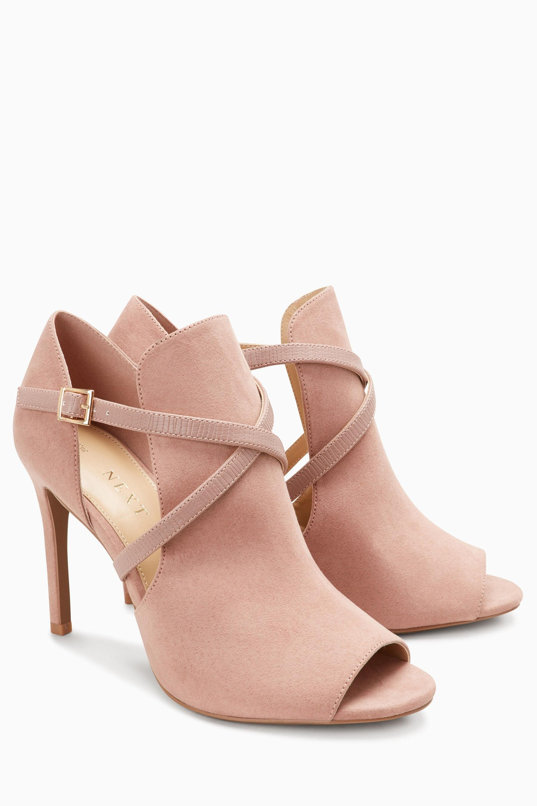 ca6143600fb Womens Next Blush Cross Strap Shoeboots - Pink Blush Heels