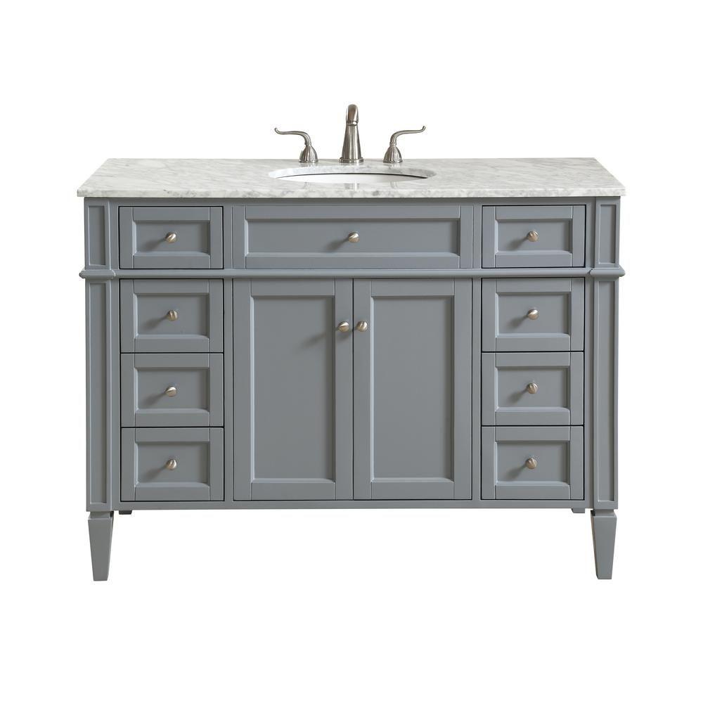 Elegant Furniture Nanticoke 48 In Single Bath Vanity W 8 Drawers