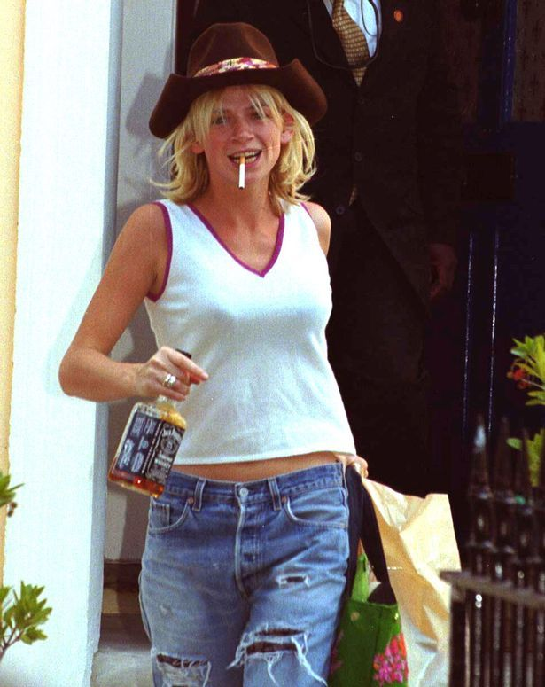 zoe ball leaves for wedding to norman cook with a bottle