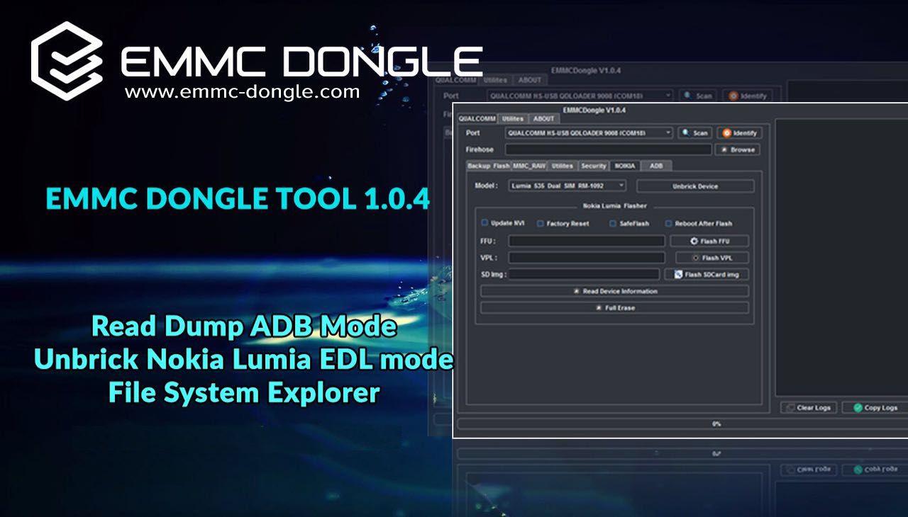 EMMC DONGLE TOOL 1 0 4 ADDED: Qualcomm Read Full EMMC Dump In ADB