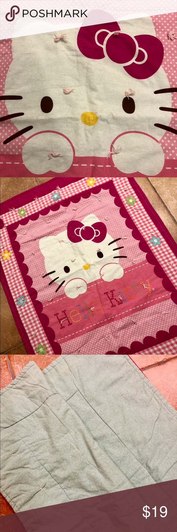 Hello Kitty Baby Blanket Hello Kitty Quilted Baby Blanket Approx 30 X40 No Stains No R Hello Kitty Baby Blanket Hello Kitty Baby Hello Kitty Accessories