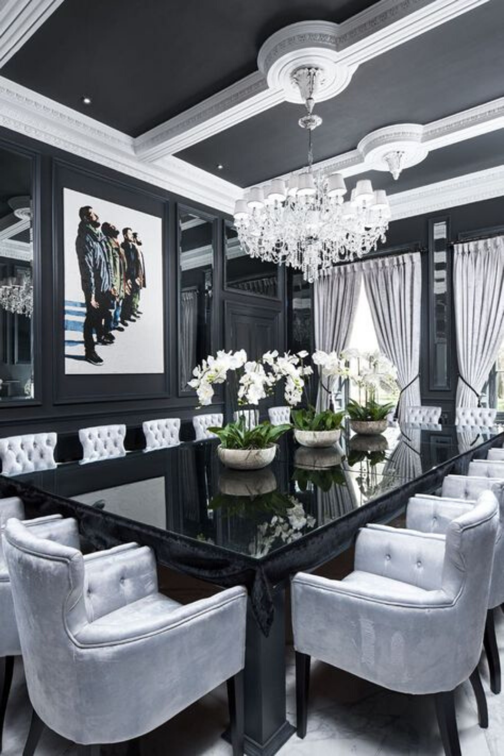 Dining Room Black And White Inspiration In 2020 Luxury Dining Room Decor Dining Room Table Decor Black Dining Room