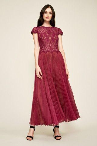 043398274c9 Tadashi Shoji Drusa Chiffon Lace Tea-Length Dress