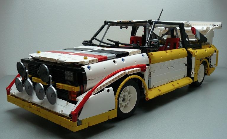 Lego Audi S1 Quattro Rally Car Lego cars, Lego technic, Lego